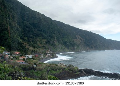 Madeira island Seixal village with Atlantic ocean view