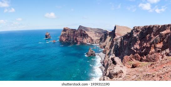 Madeira, Panorama from Ponta de Sao  Lourenco