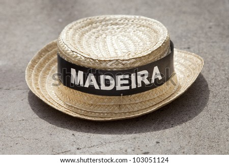 4d90a7debaf Madeira Straw Hat Stock Photo (Edit Now) 103051124 - Shutterstock