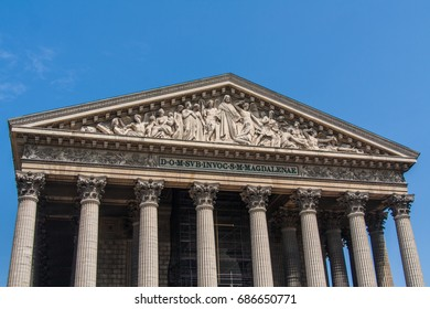 Madeleine Church - more formally know as  La Madeleine is a Roman Catholic church occupying a commanding position in the 8th arrondissement of Paris.