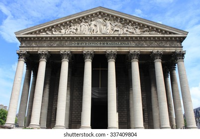 Madeleine church in Paris, France