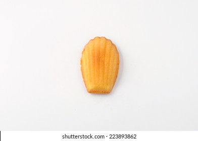 madeleine french pastry isolated on white background