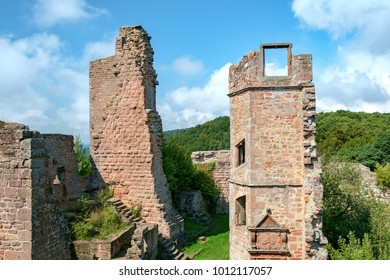 At Madenburg castle ruin near the town of Landau in the Palatinate region of Germany.