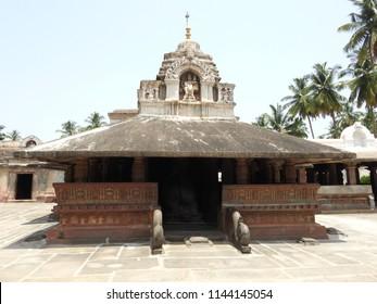 Madhukeshwara Temple, Banavasi, Karnataka State,India. Kadamba dynasty built this temple during 9th century. The temple is dedicated to Lord Shiva.