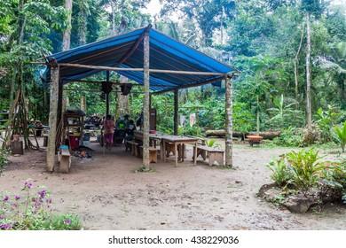 MADIDI, BOLIVIA - MAY 7, 2105: Jungle camp for tourists in Madidi National Park, Bolivia