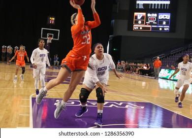 Madison Northcutt forward for the Texas-Rio Grande Valley Vaqueros women's basketball at GCU Arena in, Arizona/USA January 12,2019.