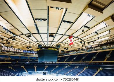 Madison Square Garden in New York, USA - 19 October, 2016: big skating rink in stadium.