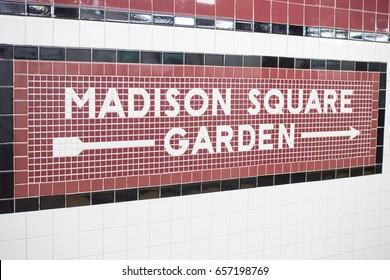 Madison Square sign.