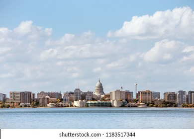 Madison Wisconsin across Lake Monona