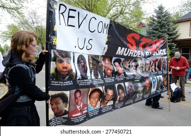 MADISON/WISCONSIN - May 12,2015 - Protesters demand justice for Tony Robinson.