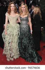 Madonna & Andrea Riseborough at the 69th Golden Globe Awards at the Beverly Hilton Hotel. January 15, 2012  Beverly Hills, CA Picture: Paul Smith / Featureflash