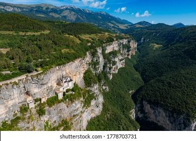 Madonna della Corona Sanctuary, in the Province of Verona, Trentino, South Tyrol, Italy.