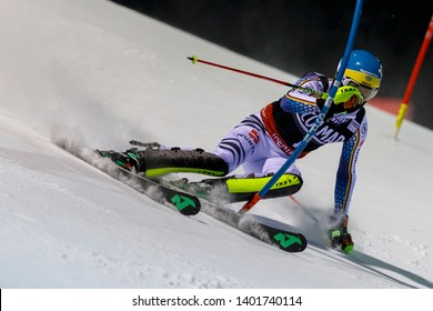 Madonna di Campiglio, Italy 22 December 2016.  NEUREUTHER Felix (Ger) competing in the Audi Fis Alpine Skiing World Cup Men's Slalom on the 3Tre Canalone Miramonti Course in the dolomite mountain.