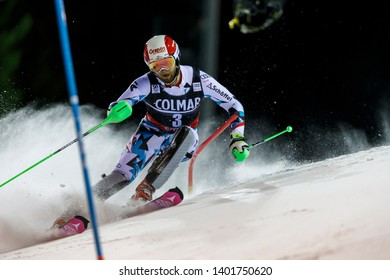 Madonna di Campiglio, Italy 22 December 2016.  SCHWARZ Marco (Aut) competing in the Audi Fis Alpine Skiing World Cup Men's Slalom on the 3Tre Canalone Miramonti Course in the dolomite mountain range.