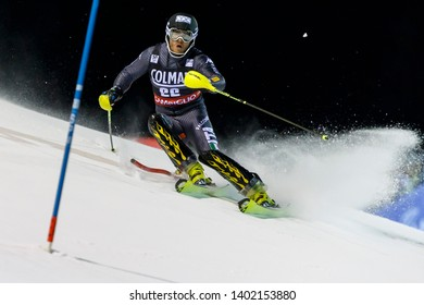 Madonna di Campiglio, Italy 22 December 2016.  RAZZOLI Giuliano (Ita) competing in the Audi Fis Alpine Skiing World Cup Men's Slalom on the 3Tre Canalone Miramonti Course in the dolomite mountain .
