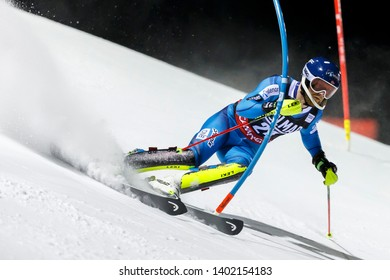 Madonna di Campiglio, Italy 22 December 2016.  NORDBOTTEN Jonathan (Nor) competing in the Audi Fis Alpine Skiing World Cup Men's Slalom on the 3Tre Canalone Miramonti Course in the dolomite mountain .