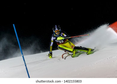 Madonna di Campiglio, Italy 22 December 2016.  READ Erik (Can) competing in the Audi Fis Alpine Skiing World Cup Men's Slalom on the 3Tre Canalone Miramonti Course in the dolomite mountain range.