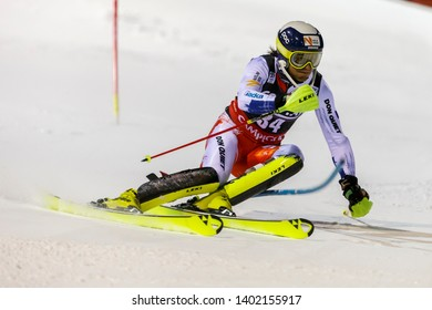 Madonna di Campiglio, Italy 22 December 2016.  KRYZL Krystof (Cze) competing in the Audi Fis Alpine Skiing World Cup Men's Slalom on the 3Tre Canalone Miramonti Course in the dolomite mountain range.