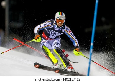 Madonna di Campiglio, Italy 22 December 2016.  LUITZ Stefan (Ger) competing in the Audi Fis Alpine Skiing World Cup Men's Slalom on the 3Tre Canalone Miramonti Course in the dolomite mountain range