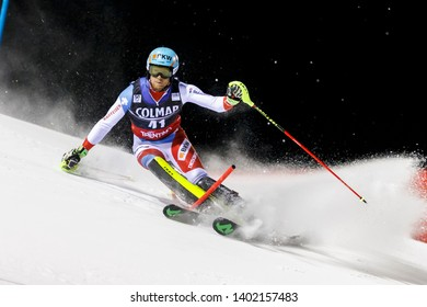 Madonna di Campiglio, Italy 22 December 2016.  SCHMIDIGER Reto (SUI) competing in the Audi Fis Alpine Skiing World Cup Men's Slalom on the 3Tre Canalone Miramonti Course in the dolomite mountain range