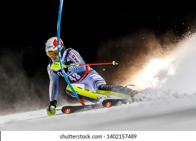 Madonna di Campiglio, Italy 22 December 2016.  STRASSER Linus (Ger) competing in the Audi Fis Alpine Skiing World Cup Men's Slalom on the 3Tre Canalone Miramonti Course in the dolomite mountain range.