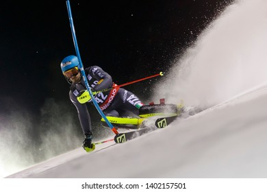 Madonna di Campiglio, Italy 22 December 2016.  SALA Tommaso (Ita) competing in the Audi Fis Alpine Skiing World Cup Men's Slalom on the 3Tre Canalone Miramonti Course in the dolomite mountain range.