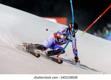 Madonna di Campiglio, Italy 22 December 2016.  TRIKHICHEV Pavel (Rus) competing in the Audi Fis Alpine Skiing World Cup Men's Slalom on the 3Tre Canalone Miramonti Course in the dolomite mountain .