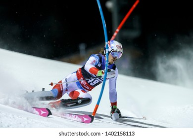 Madonna di Campiglio, Italy 22 December 2016.  ROCHAT Marc (Sui) competing in the Audi Fis Alpine Skiing World Cup Men's Slalom on the 3Tre Canalone Miramonti Course in the dolomite mountain range.
