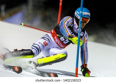 Madonna di Campiglio, Italy 22 December 2016.  HOLZMANN Sebastian (Ger) competing in the Audi Fis Alpine Skiing World Cup Men's Slalom on the 3Tre Canalone Miramonti Course in the dolomite mountain .