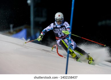 Madonna di Campiglio, Italy 22 December 2016.  LEITGEB Richard (Aut) competing in the Audi Fis Alpine Skiing World Cup Men's Slalom on the 3Tre Canalone Miramonti Course in the dolomite mountain range