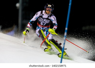 Madonna di Campiglio, Italy 22 December 2016.  RASCHNER Dominik (Aut) competing in the Audi Fis Alpine Skiing World Cup Men's Slalom on the 3Tre Canalone Miramonti Course in the dolomite mountain .