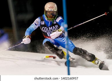 Madonna di Campiglio, Italy 22 December 2016. GASTALDI Sebastiano (Arg) competing in the Audi Fis Alpine Skiing World Cup Men's Slalom on the 3Tre Canalone Miramonti Course in the dolomite mountain .