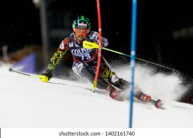 Madonna di Campiglio, Italy 22 December 2016. BREITFUSS KAMMERLANDER S. (Bol) competing in the Audi Fis Alpine Skiing World Cup Men's Slalom on the 3Tre Canalone Miramonti Course in the dolomite mount