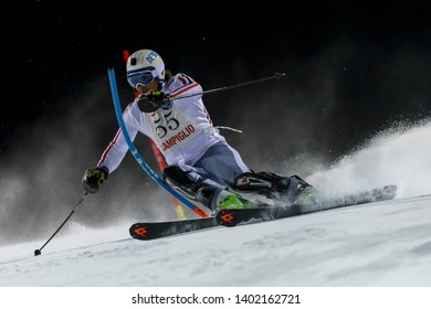 Madonna di Campiglio, Italy 22 December 2016.  Giorgio Rocca (Ita) Forerunners in the Audi Fis Alpine Skiing World Cup Men's Slalom on the 3Tre Canalone Miramonti ourse in the dolomite mountain range.