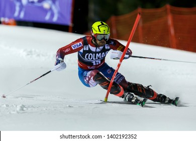 Madonna di Campiglio, Italy 22 December 2016.  CHODOUNSKY David (Usa) competing in the Audi Fis Alpine Skiing World Cup Men's Slalom on the 3Tre Canalone Miramonti Course in the dolomite mountain .