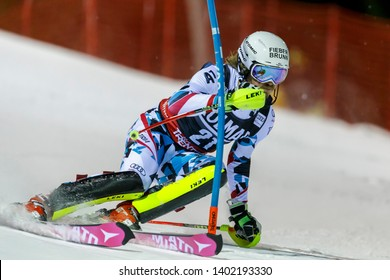 Madonna di Campiglio, Italy 22 December 2016.  FELLER Manuel (Aut) competing in the Audi Fis Alpine Skiing World Cup Men's Slalom on the 3Tre Canalone Miramonti Course in the dolomite mountain range.