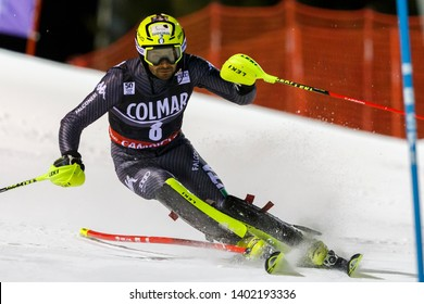 Madonna di Campiglio, Italy 22 December 2016.  THALER Patrick (Ita) competing in the Audi Fis Alpine Skiing World Cup Men's Slalom on the 3Tre Canalone Miramonti Course in the dolomite mountain range.