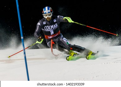 Madonna di Campiglio, Italy 22 December 2016.  MOELGG Manfred (Ita) competing in the Audi Fis Alpine Skiing World Cup Men's Slalom on the 3Tre Canalone Miramonti Course in the dolomite mountain range.