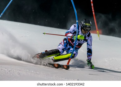 Madonna di Campiglio, Italy 22 December 2016.  MATT Michael  (Aut) competing in the Audi Fis Alpine Skiing World Cup Men's Slalom on the 3Tre Canalone Miramonti Course in the dolomite mountain range.