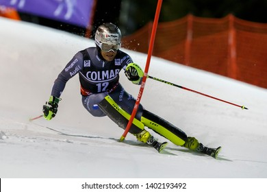 Madonna di Campiglio, Italy 22 December 2016.  LIZEROUX Julien (Fra) competing in the Audi Fis Alpine Skiing World Cup Men's Slalom on the 3Tre Canalone Miramonti Course in the dolomite mountain range