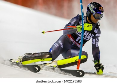 Madonna di Campiglio, Italy 22 December 2016.  PINTURAULT Alexis (Fra) competing in the Audi Fis Alpine Skiing World Cup Men's Slalom on the 3Tre Canalone Miramonti Course in the dolomite mountain .