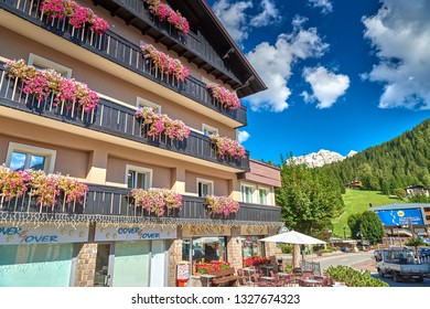 MADONNA DI CAMPIGLIO, ITALY-20 October 2018:Madonna di Campiglio in the summertime, Madonna di Campiglia is the most famous ski resort in the Dolomites, Italy.