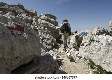 Madonna di Campiglio (Tn),Italy, Dolomites of  Brenta,  the path Groste-Tuckett