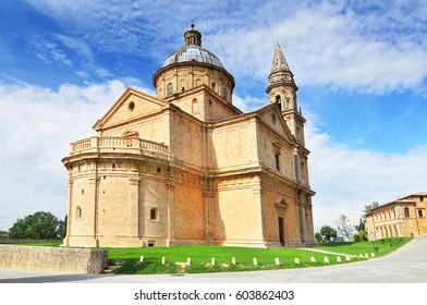Madonna di San Biagio church Montepulciano in Tuscany, Italy Europe.