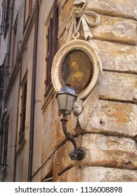 Madonna Images on the buildings of Rome