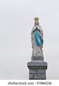 Madonna statue in Lourdes, France