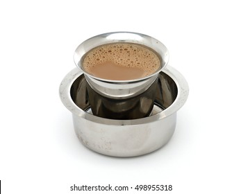 Madras Coffee in Traditional Indian Tumbler and Devorah