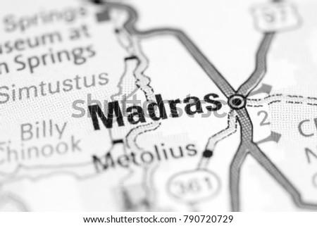 Madras Oregon Usa On Map Stock Photo Edit Now 790720729 Shutterstock