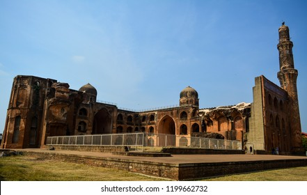 The Madrasa of Mahmud Gawan is an ancient madrasa or Islamic college in Bidar, Karnataka, India. It was built in the 1460s and is an example of the regional style of Indo-Islamic architecture.