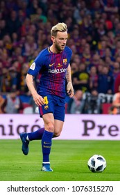 MADRID - APR 21: Rakitic plays at the Copa del Rey final match between Sevilla FC and FC Barcelona at Wanda Metropolitano Stadium on April 21, 2018 in Madrid, Spain.